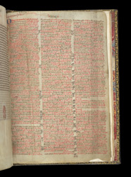 List Of Readings For Sundays, Feast Days, Etc., In A Bible With A Calendar